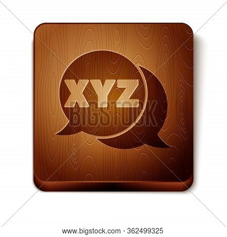 Brown Xyz Coordinate System Icon Isolated On White Background. Xyz Axis For Graph Statistics Display
