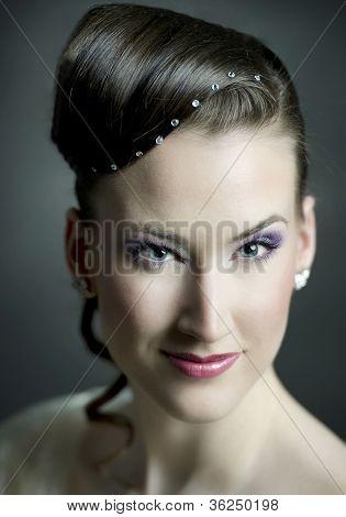 Blue-eyed Bridal Portrait