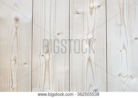 Vertical Pine Boards, Untreated, Natural Wood Texture Clearly Visible
