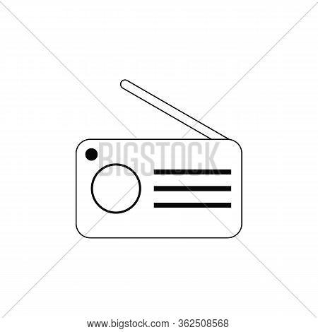 Vector Radio Icon. Black Icon Pictogram. Modern Flat Design Vector Illustration, Quality Concept For