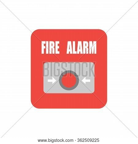 Fire Button Vector Flat Material Design Isolated On White.