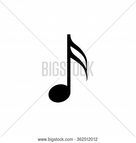 Music Note Vector Sound Icon. Flat Music Note Isolated Illustration Melody