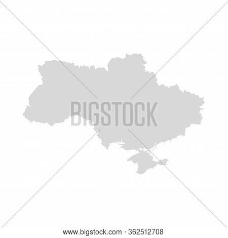 Ukraine Vector Map Design. Ukraine Country Region Shape Map Kiev Isolated Border.
