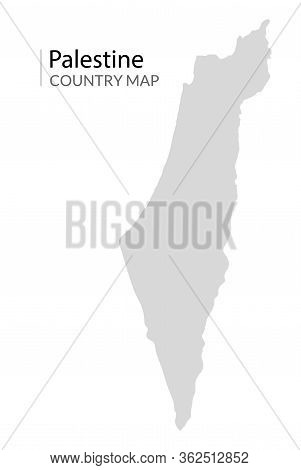 Israel Palestine Country Vector Map. Israeli Gaza Background Map