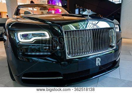 Rolls Royce Phantom.bmw Welt, Munich, Germany, March 2020