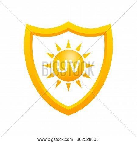 Uv Protection. Sun Icon Symbol. Danger Symbol. Uv Radiation. Vector Stock Illustration