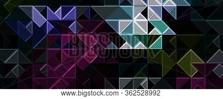 Abstract 3d Glass Panorama Beckground Design Illustration