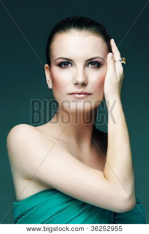 Makeup Fashion Female Green