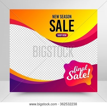 Final Sale Badge. Sale Banner Template. Discount Banner Shape. Coupon Bubble Icon. Social Media Layo