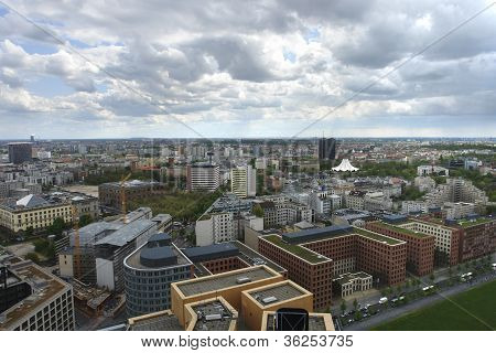 Aerial City View Of Berlin