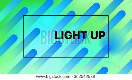 Funky Neon Blend Vector Background. Liquid Neon Bright Trendy Landing Page. Iridescent Noble Vector