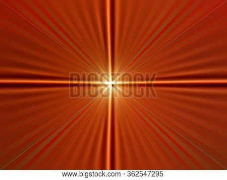 Abstract Surface Radial Zoom Blur Of Terra Cotta, Red, Gold Tones. Abstract Terra Cotta Background W