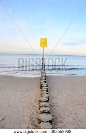 Wavebreaker - Baltic Sea Wooden Breakwater. Wavebreaker - Baltic Sea Wooden Breakwater