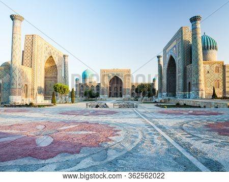 City of Samarkand at sunrise, Uzbekistan