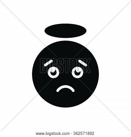 Black Solid Icon For Confused Distressing Gloomy Dispirited