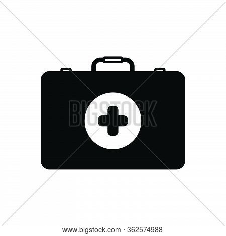Black Solid Icon For First Aid Kit First-aid-kit Box First-aid-box