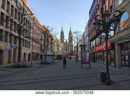 Shopping Street Karolinenstrasse, Nuremberg In Middle Franconia
