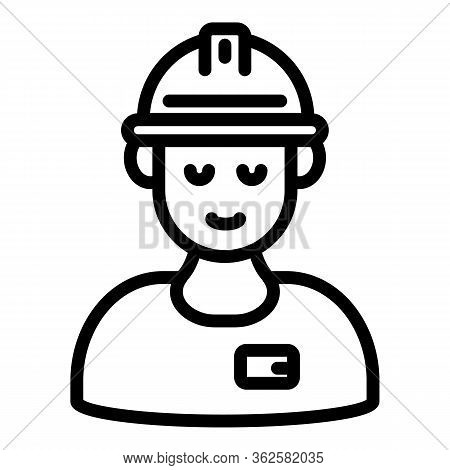 Demolition Worker Icon. Outline Demolition Worker Vector Icon For Web Design Isolated On White Backg
