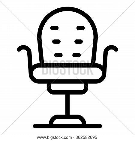 Stylist Chair Icon. Outline Stylist Chair Vector Icon For Web Design Isolated On White Background