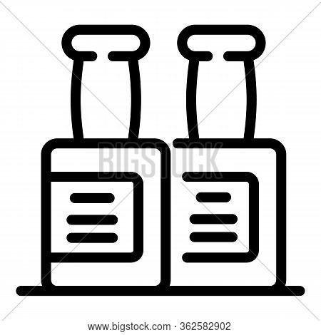 Stylist Bottles Icon. Outline Stylist Bottles Vector Icon For Web Design Isolated On White Backgroun