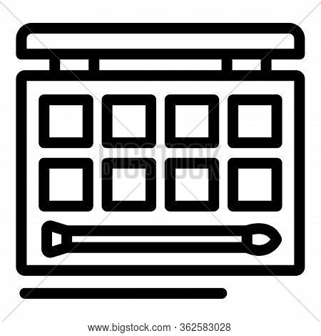 Stylist Shadow Icon. Outline Stylist Shadow Vector Icon For Web Design Isolated On White Background