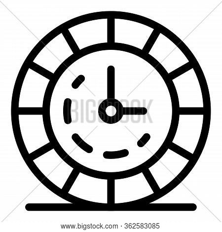 Stylist Clock Icon. Outline Stylist Clock Vector Icon For Web Design Isolated On White Background