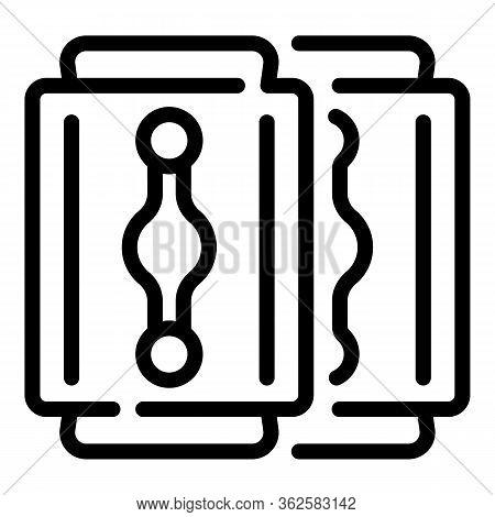 Razor Blade Icon. Outline Razor Blade Vector Icon For Web Design Isolated On White Background