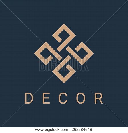 Ornament Monogram Logo Icon Design Template For Business. Luxury Geometric Emblem With Overlapping E