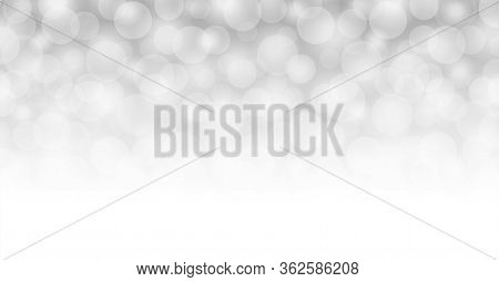 Abstract Grey Background With Bokeh Circle Soft, Bokeh Soft Gray For Backdrop, Bokeh Bright Grey Wit