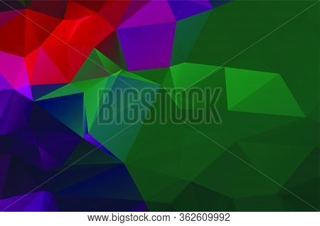 Background Vivid In The Style Of Cubism. Color Wallpapers