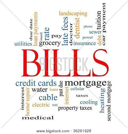 Bills Word Cloud Concept