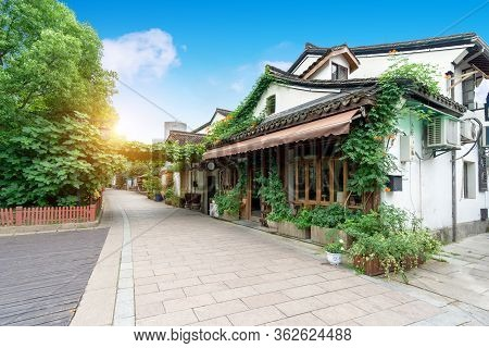 Hangzhou Traditional Architecture And Beautiful Alley Landscape