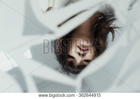 Reflection In Broken Mirror.