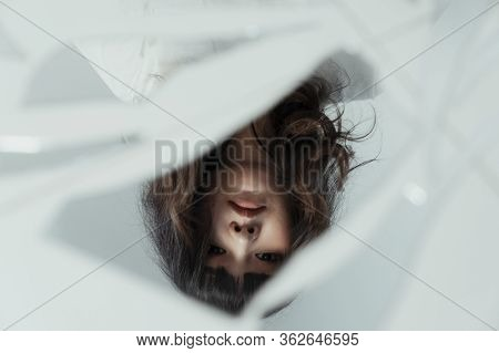 The Reflection Of Thai Girl.