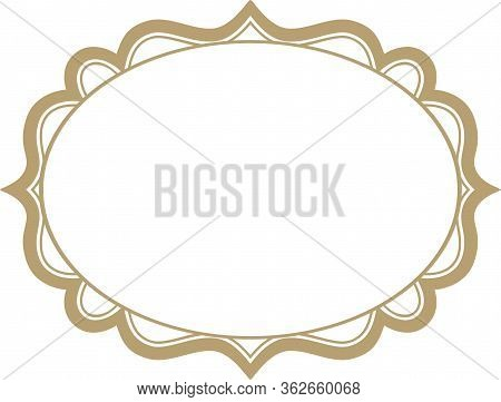 Vector Pattern Openwork Oval Frame For Text