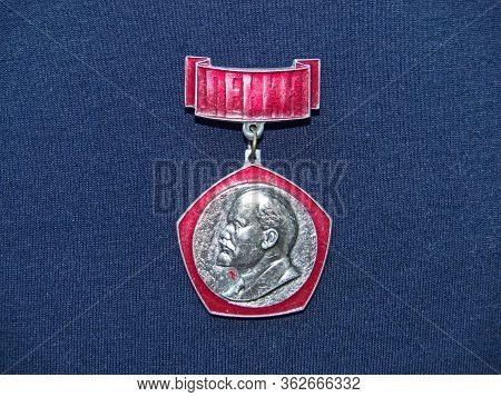 Ussr - Circa 1970: Badge With The Image Of Vladimir Lenin (ulyanov) From The Series  \