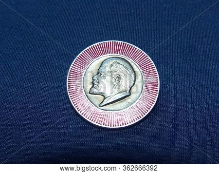 Ussr - Circa 1971: Badge With The Image Of Vladimir Lenin (ulyanov) From The Series  \