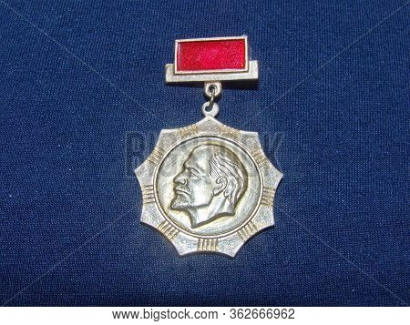 Ussr - Circa 1971: Badge With The Image Of Vladimir Lenin (ulyanov, 1870-1924) From The Series  \