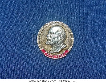 Ussr - Circa 1972: Badge With The Image Of Vladimir Lenin (ulyanov, 1870-1924) From The Series  \
