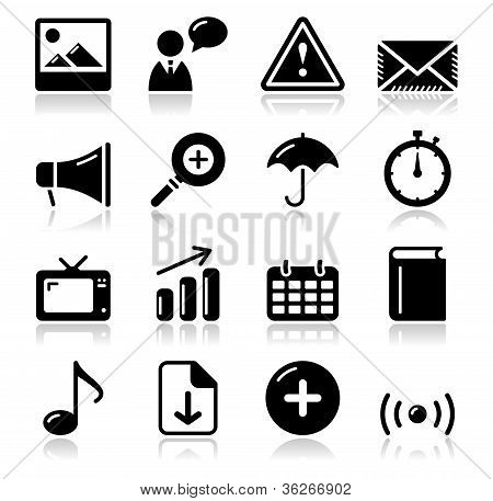 Website internet glossy sqaure icons set