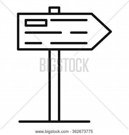 Exhibition Center Sign Board Icon. Outline Exhibition Center Sign Board Vector Icon For Web Design I