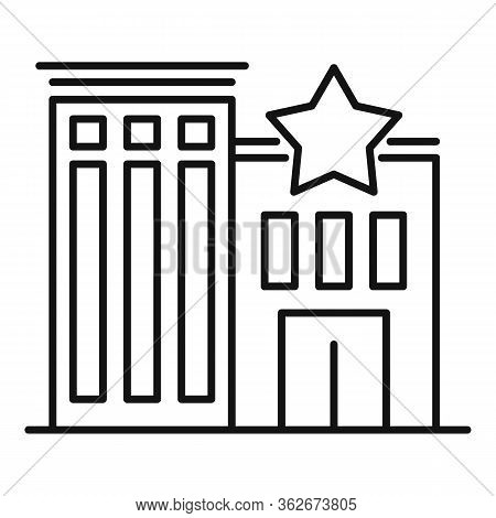 Star Exhibition Center Icon. Outline Star Exhibition Center Vector Icon For Web Design Isolated On W