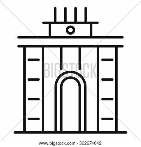 Exhibition Center Arch Icon. Outline Exhibition Center Arch Vector Icon For Web Design Isolated On W