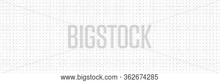 Vector Panorama Drafting Paper. Graphic Regular Dots Grid Background. Panorama Paper Sheet For Web D
