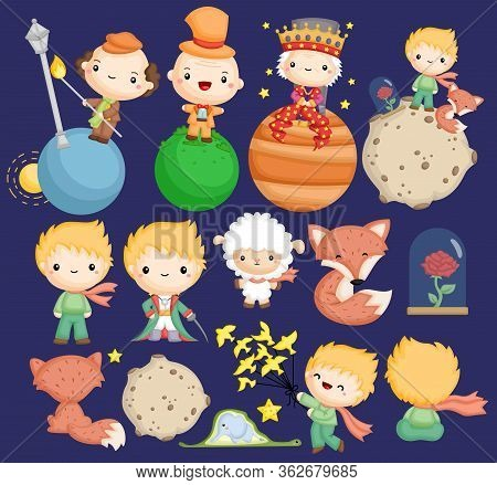 A Cute Vector Of The Little Prince Stories