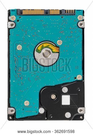 Hard Drive (hdd) Isolated On White Background. Laptop Internal Hard Disk Memory Over Isolated  White