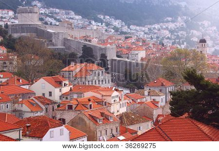 Dubrovnik - Red Rooftops And The Walled City