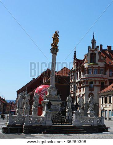 Maribor Main Square - Plague Monument
