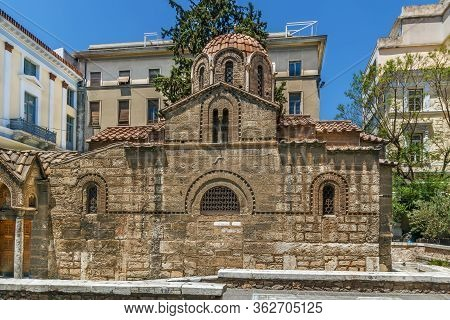 The Church Of Panaghia Kapnikarea Is A Greek Orthodox Church And One Of The Oldest Churches In Athen