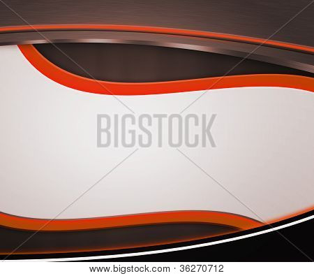 Dark Shapes Orange Background